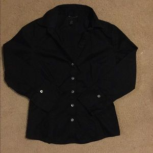 Banana Republic black button up